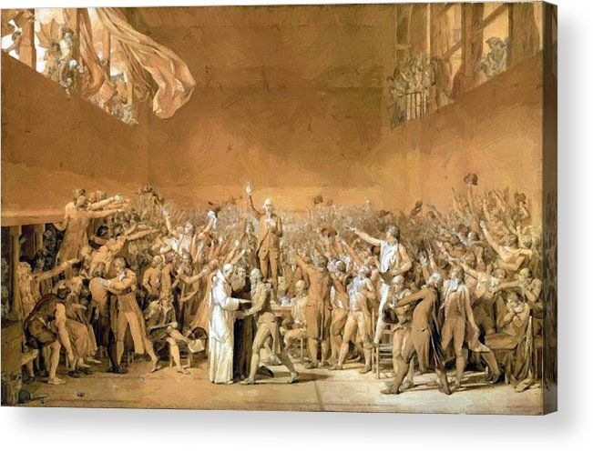 New Artwork For Sale The Tennis Court Oath 20th June 1789 1791 Acrylic Print By David Jacqueslouis Https Ift Tt French Revolution Tennis Court Oath