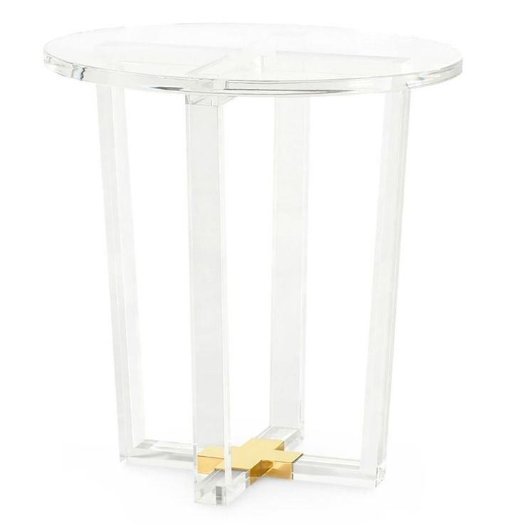 Bungalow 5 Otis Side Table - Clear | Side table, Acrylic ...