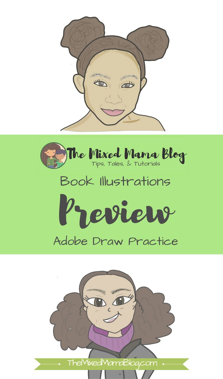 Working on a diverse children's book. Have been practicing turning my art into digital versions. Check out to learn what I have been using to accomplish this look.  biracial hair | mixed kids | multiracial family | interracial marriage