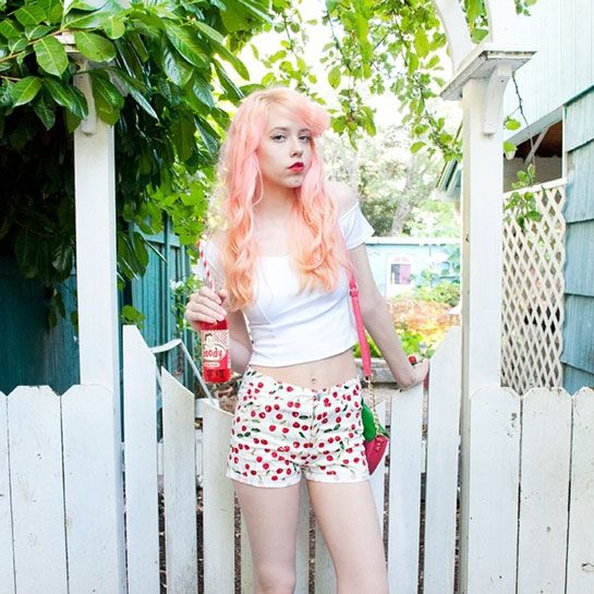 How To Wear Pink Every. Single. Day. Seriously #refinery29  http://www.refinery29.com/mermaidens-pink-instagram#slide11