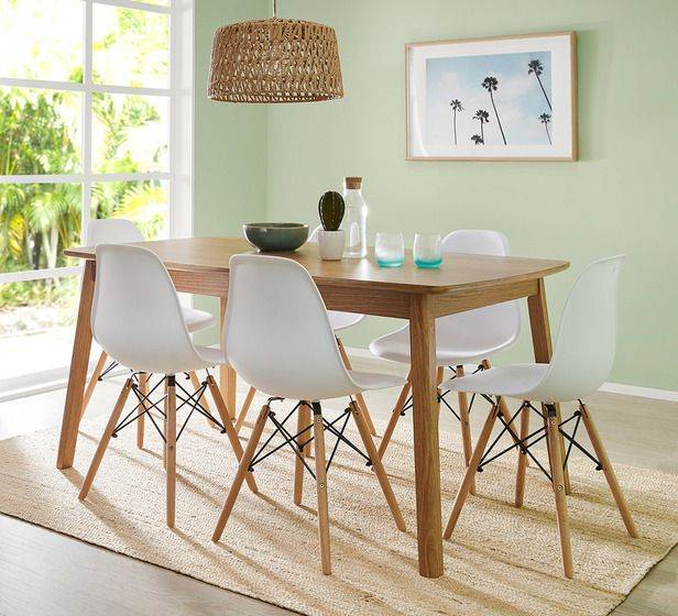 Retro 7 Piece Dining Set With Replica Eames Chairs Retro Dining
