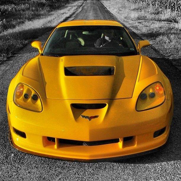 (Yellow Corvette ZR1)