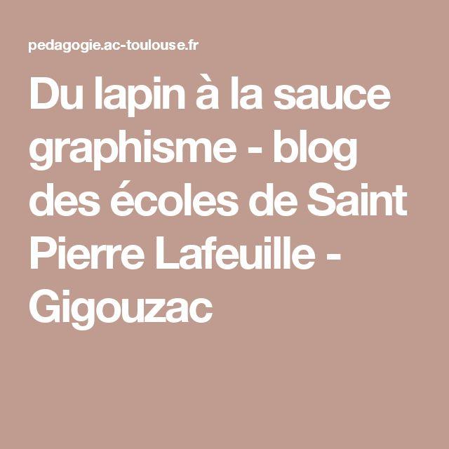 Du lapin à la sauce graphisme - blog des écoles de Saint Pierre Lafeuille - Gigouzac