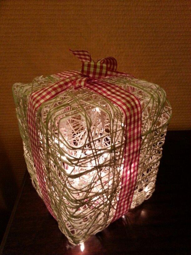 Paper yarn lantern - Paperinarulyhty