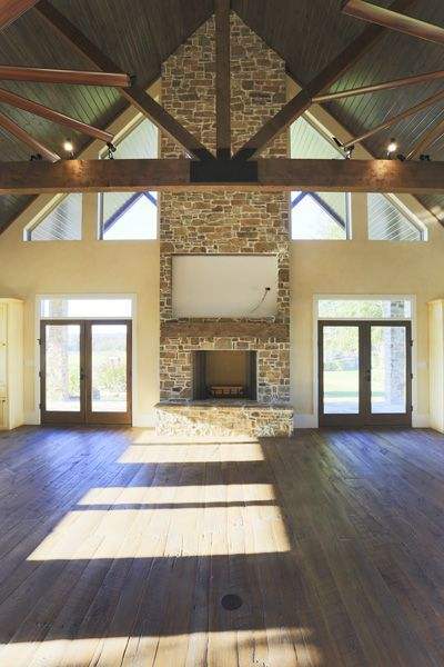 Gorgeous trussed ceilings. Get this look for a fraction of the cost by going faux!