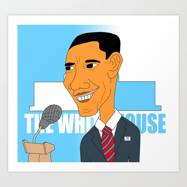 Barack Obama Elections 2012 Art Print by sixteenart | Society6