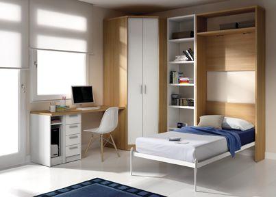 Chambre avec un lit rabattable