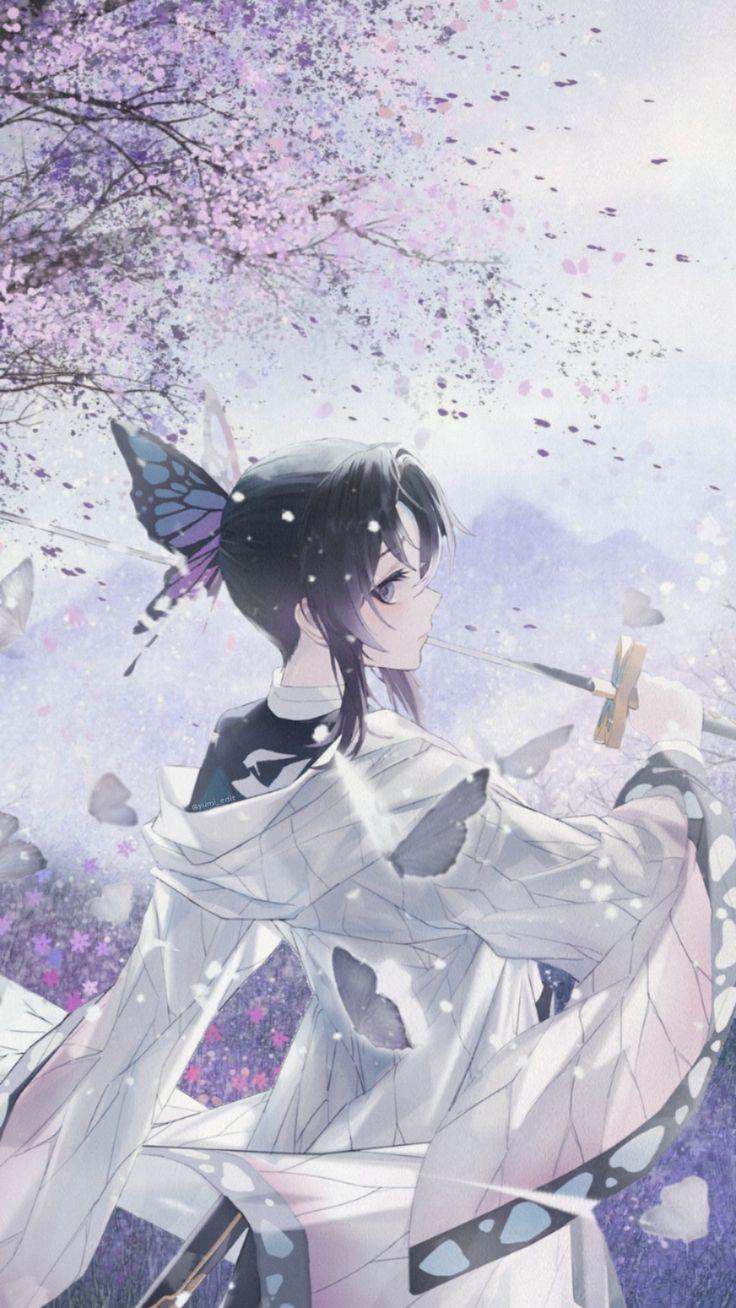 Shinobu Aesthetic wallpapher demon slayer in 2020 | Anime ...