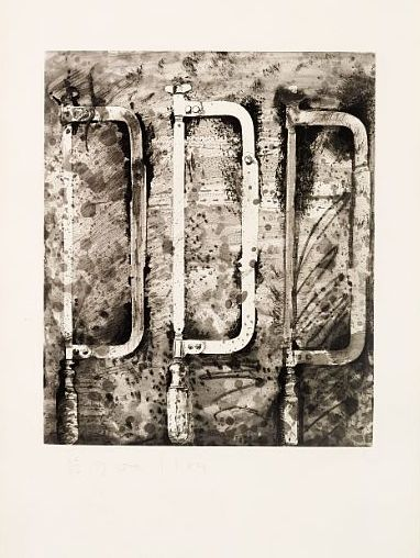 Jim Dine - The New French Tools 2 - Three Saws... on MutualArt.com