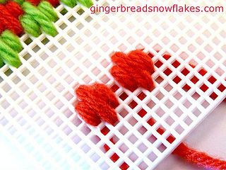Plastic Canvas: Hungarian Stitch by gingerbread_snowflakes, via Flickr