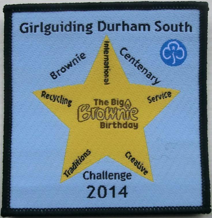 Girl guide Girlguiding Durham South Big Brownie Birthday Challenge Badge