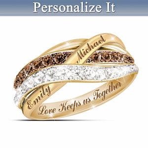 mocha white diamond ring