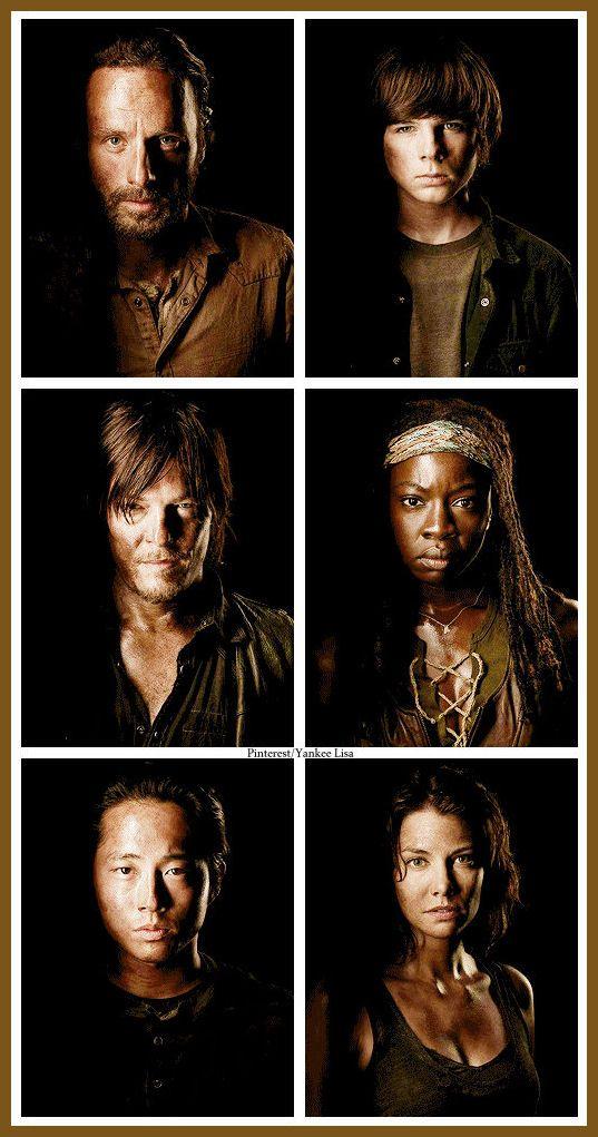 Rick Grimes - Carl Grimes - Daryl Dixon - Michonne - Glenn Rhee - Maggie Greene - AMC's The Walking Dead
