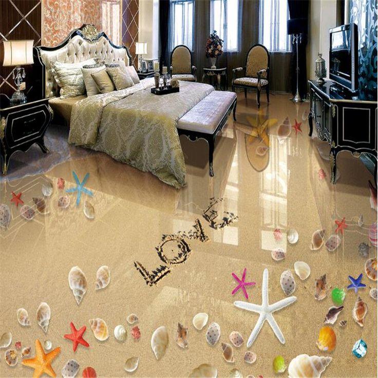 beibehang Fashion romantic high quality wallpaper beach starfish conch shell bathroom floor papel de parede 3d wallpaper tapety