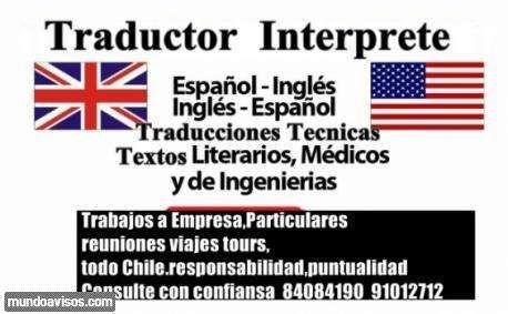 Traductor Interprete Ingles Técnico Profesional  Traductor Ingles Avanzado Técnico Interprete vasta ex ..  http://vina-del-mar.evisos.cl/traductor-interprete-ingles-tecnico-profesional-1-id-584742