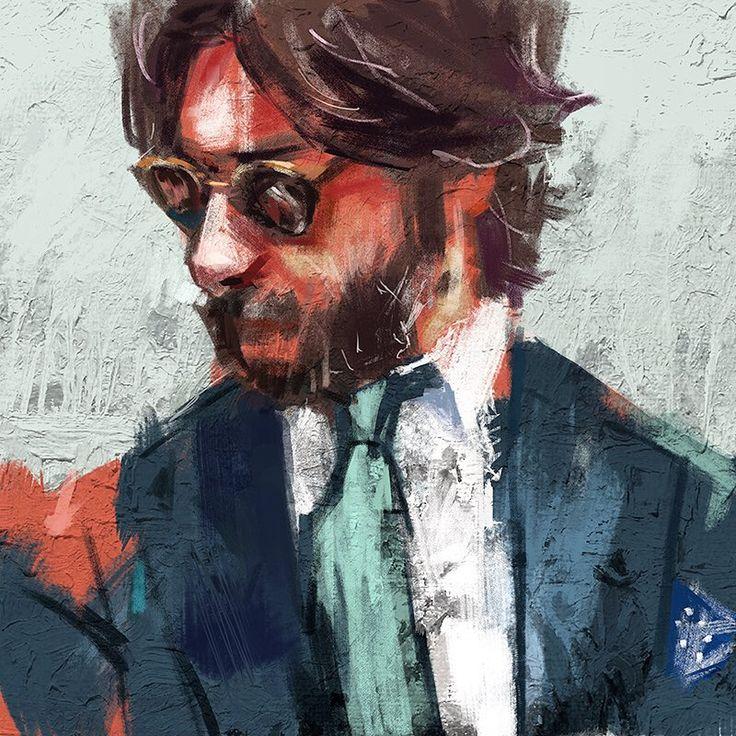 SEUNG WON HONG - portrait painting of Nicola Ricci @nicolasricci...