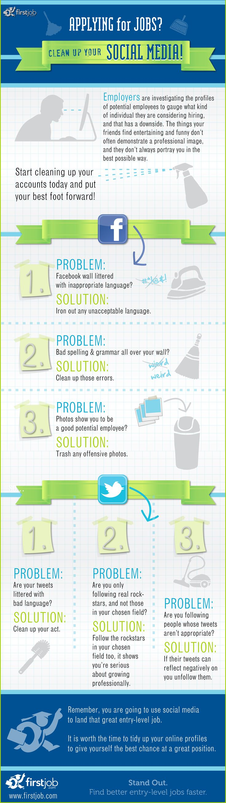 1000 images about infographics for job seekers class of 2013 applying for a job clean up your social media jobseekers