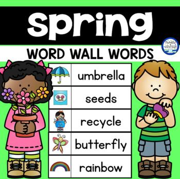 This free download includes 40 printable spring word wall words! Use them on a seasonal word wall for journal writing, word scrambles, and creative writing! This set includes words for March, April and May.