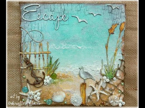Such a Pretty Mess: Beach Canvas Video Tutorial {Shimmerz Paints & Dusty Attic Designs}