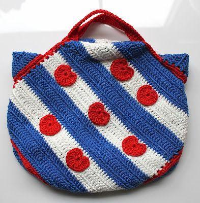 Tas friese vlag haken   draadenpapier   Gratis patroon #haken #tas #fries #crochet #bag