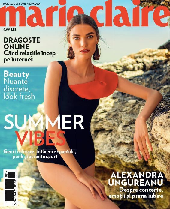Our black suede leather bodysuit was featured on the cover of the July issue of Marie Claire Magazine
