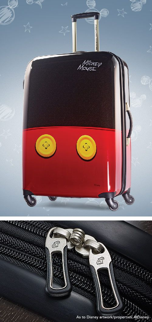 "Mickey Mouse Spinner Hardside Pants 21"" and 28"" by American Tourister: The official luggage of Walt Disney World Resort and Disneyland"