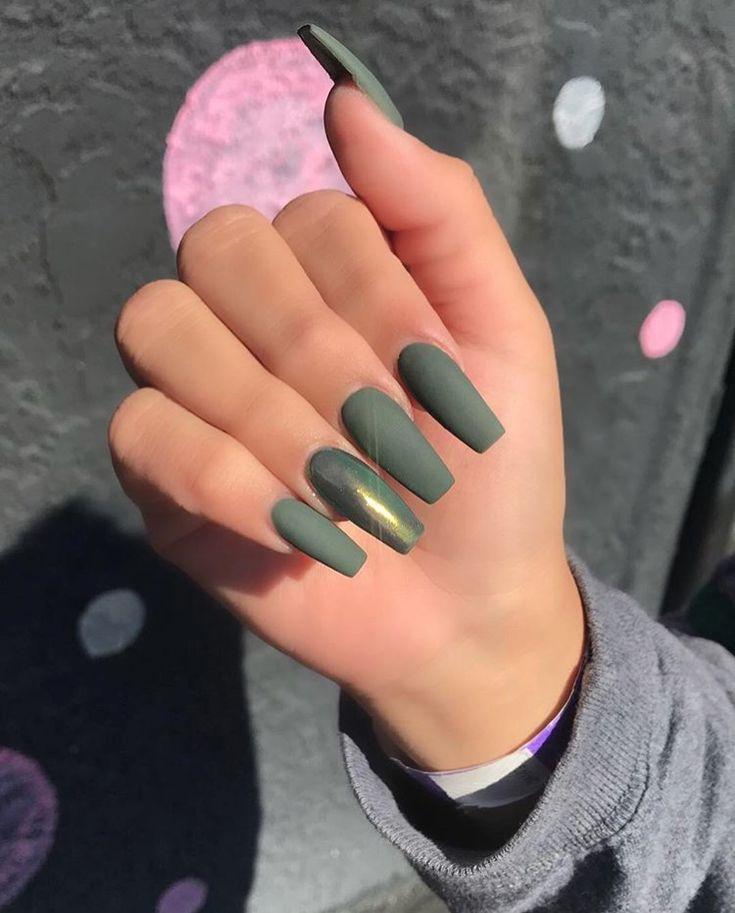 Olive green gold chrome