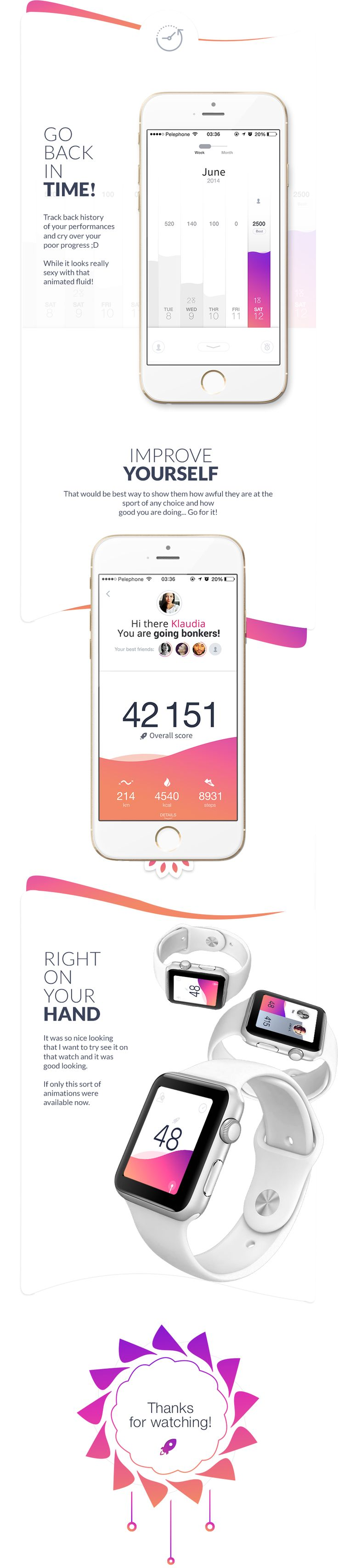 Hey guys, This time I present to you project for health/fitness app I've produced around year ago for a client that didn't really used this UI. I liked how it came out so I'm sharing it with you now.