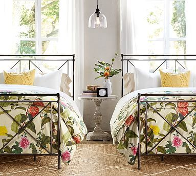 Ashley Bird Print Organic Duvet Cover & Sham #potterybarn Love this print for a guest bed.  Great price while supplies last.