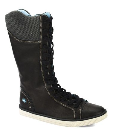 Another great find on #zulily! Black Nyx Leather Boot #zulilyfinds