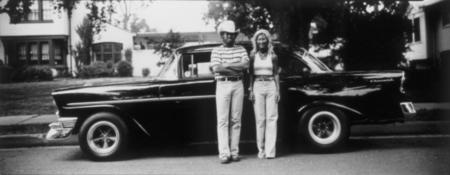 Thaddeus Holownia, series: Headlighting, 56 Chevy Couple, 1974-1977, gelatin silver contact print, 8x20in © Courtesy Corkin Gallery #cars #photography