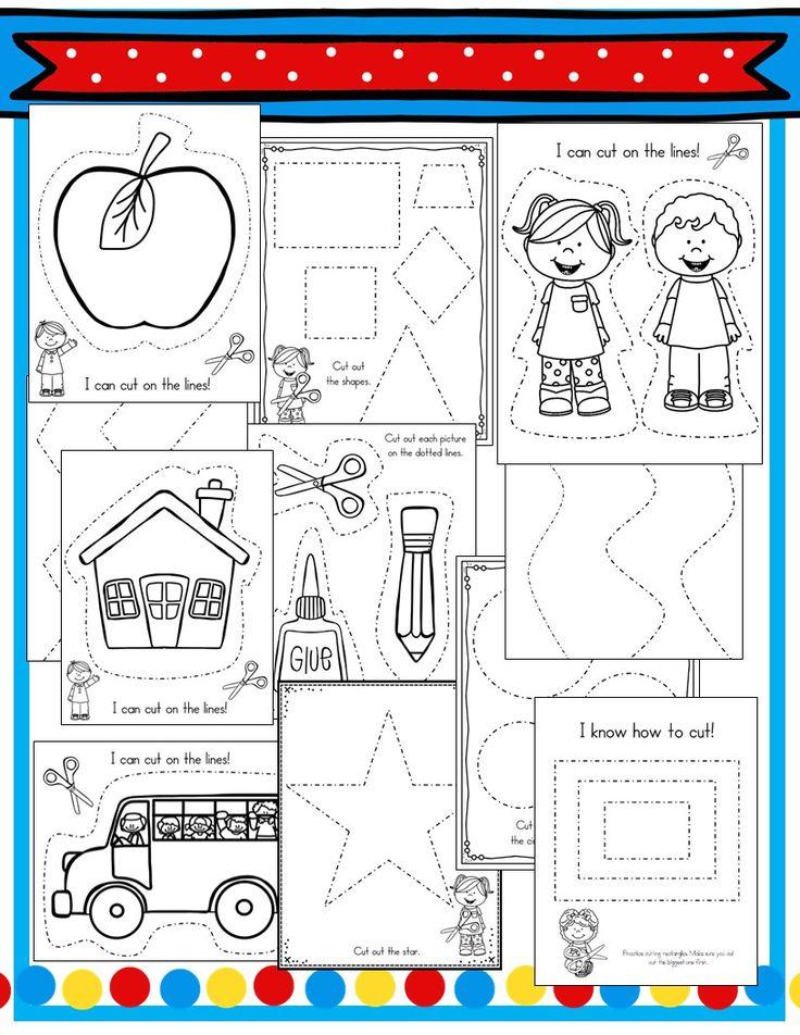 Cutting practice for the beginning of Kindergarten