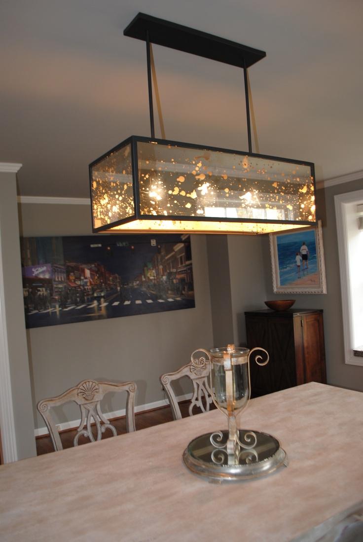 Mercury glass light fixtures - Loving My Dreamy West Elm Mercury Glass Fixture Wondering Where That Amazing Nashville Street Scape