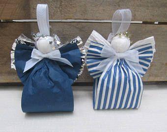 Blue Angel Navidad papel cinta Angel Arbol ornamento Angel Arbol decoración azul adorno de Navidad / vacaciones / Blue Angel