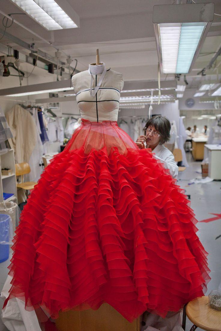 Dior ruffle skirt creation