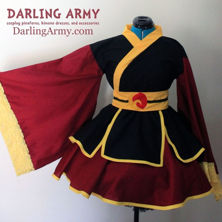 Azula Fire Nation Zuko Avatar Airbender Cosplay Kimono Dress Wa Lolita Skirt Accessory | Darling Army