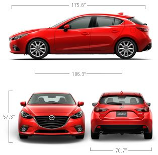 2014 Mazda3 Hatchback Car Specifications & Features | Mazda USA Good HP, Decent MPG, Moonroof. starting at 18k.