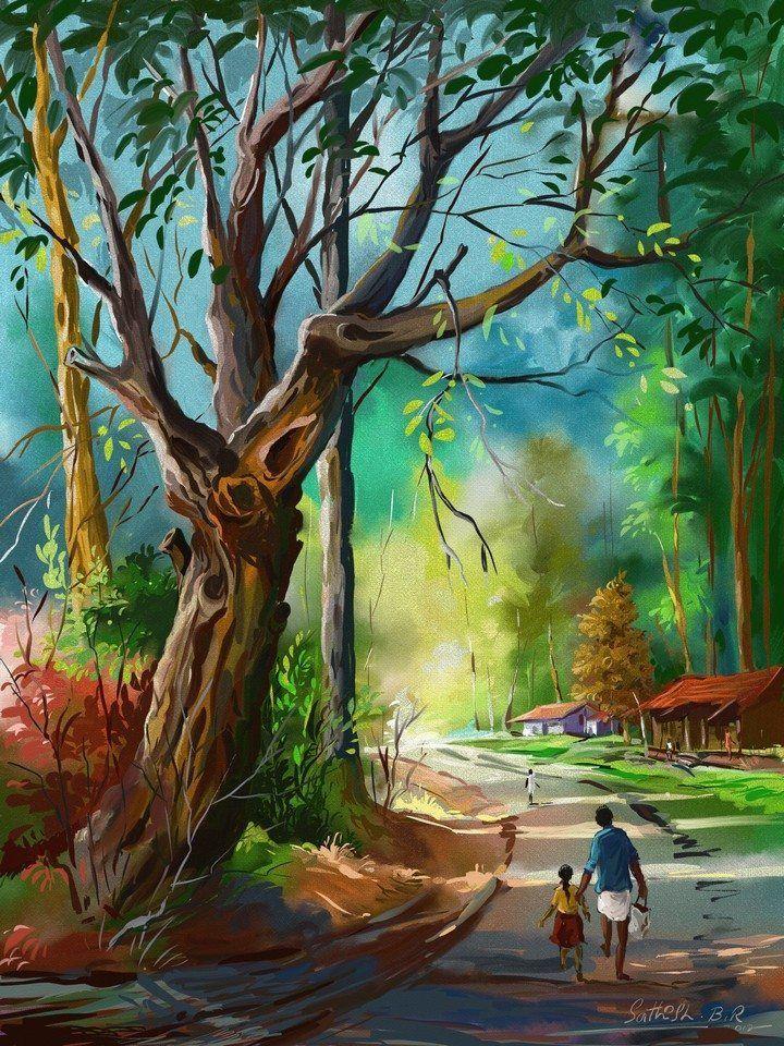 5 Art Contest Winners Watercolor Landscape Paintings Scenery Paintings Indian Art Paintings