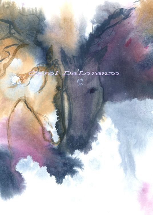 Watercolor Painting Horse Art Horse Painting by caroldelorenzo