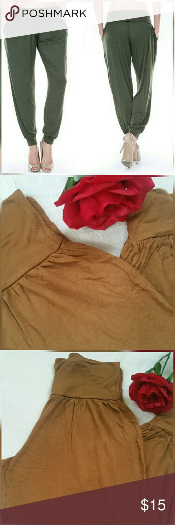 Brown joggers size XS Size small , very cute flowy soft joggers,brown color, good condition. Exactly photos in the stocks photos. GO Pants Track Pants & Joggers