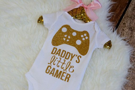 Daddy's Little Gamer Shirt Video Game Baby by HauteBelliesShop