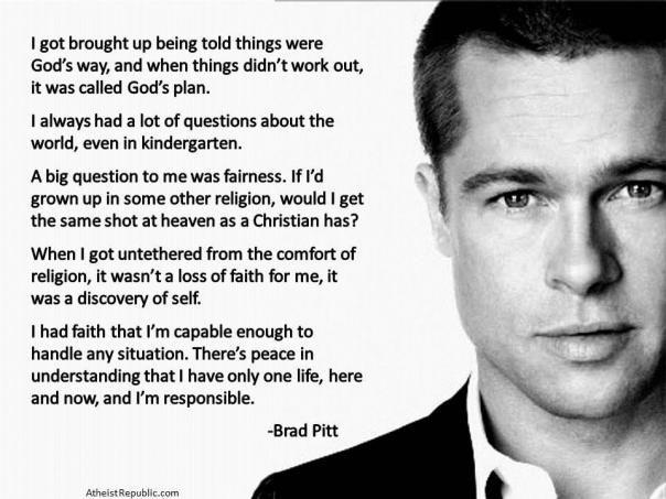 Rock on Brad Pitt