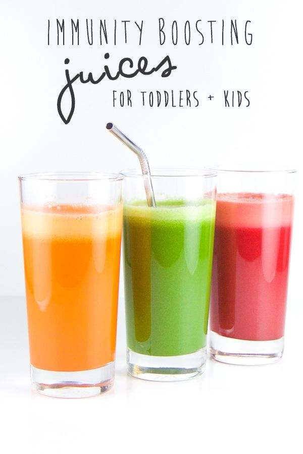 Three juices that are colorful, healthy and fully loaded with nutrients to help boost your kiddos immunity. Bonus points - all three juices taste incredible and will be a hit with the little ones!!