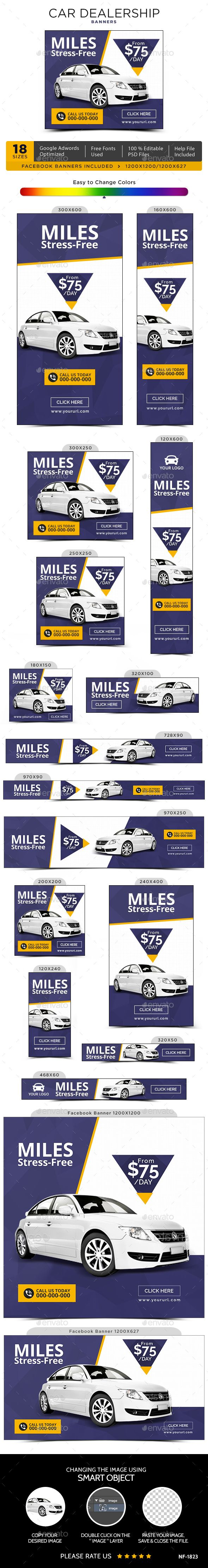 Car Dealership Banners - #Banners & Ads #Web Elements Download here: https://graphicriver.net/item/car-dealership-banners/20101229?ref=alena994