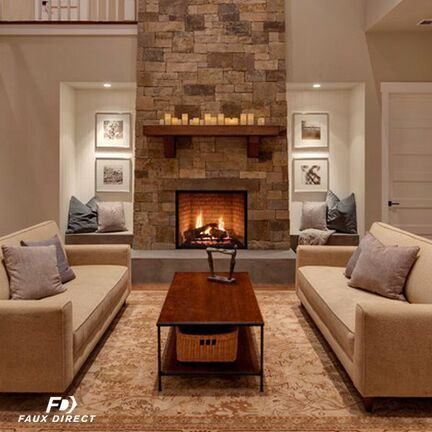 This is where faux stone panels step in to save the day. Our faux stone - Best 25+ Faux Stone Fireplaces Ideas On Pinterest Rustic