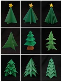 christmas tree--do a row for dining room table or mantel