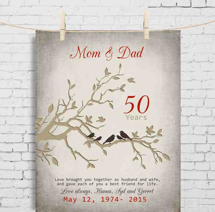 Best 25 50th anniversary gifts ideas on pinterest for Best gifts for 50th wedding anniversary