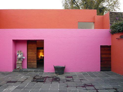 Luis Barragan's Casa Eduardo Prieto Lopez: Architects Work, Luis Barragán, Mexico Cities, Luis Barragan, Colors Architecture Mexico, Architecture Atmosph, Architecture Ideas, Barragan Architecture, Bold Colors