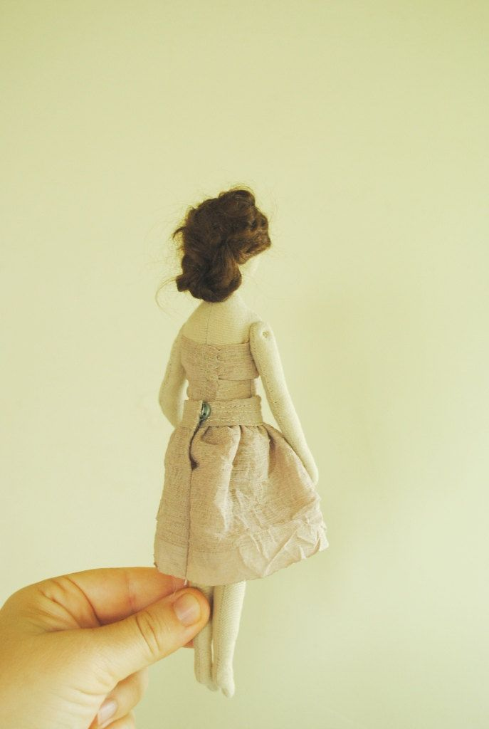 Reserved for Ellie / cloth doll / girl with woolen by willowynn