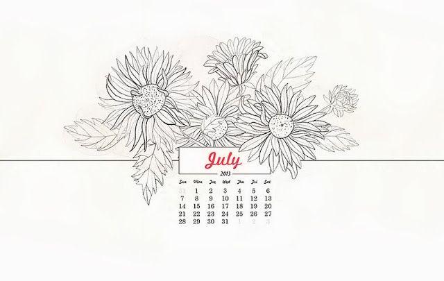 #Desktop calendario Julio 2013 #OanaBefort